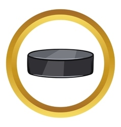 Hockey puck icon cartoon style vector