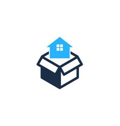 home box logo icon design vector image