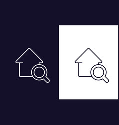 house search icon real estate logo vector image