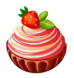 icon decorative cake with vector image