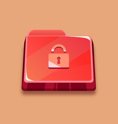 infected folder red folder with a lock vector image