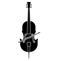 Isolated cello icon musical instrument vector