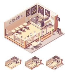 isometric coffee shop or coffeehouse vector image