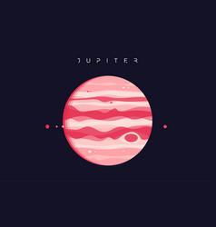 Jupiter fifth planet from sun vector