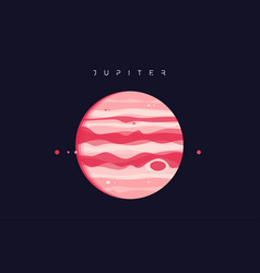 jupiter the fifth planet from sun vector image