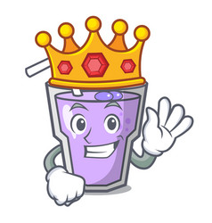 King berry smoothie mascot cartoon vector