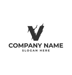 letter v logo template design vector image