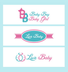 love baby design collection vector image
