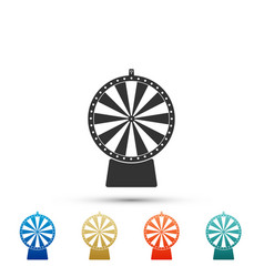 lucky wheel icon isolated on white background vector image