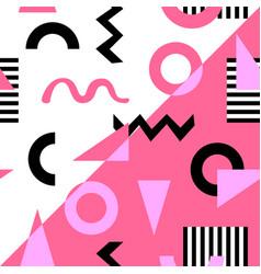 memphis seamless pattern geometric design vector image