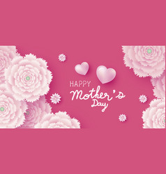 mothers day card concept design pink flowers vector image