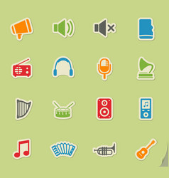 Music simply icons vector