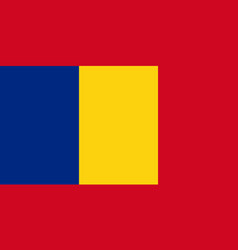 National flag romania is isolated vector