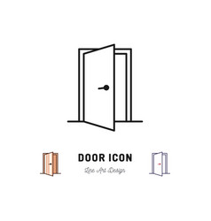 Open door icon thin line art symbol vector