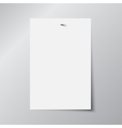 Paper Rectangle Banner Mock Up A4 vector image