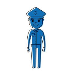 police man icon vector image