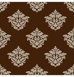 Retro ochre seamless pattern vector