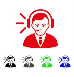 sad call center operator icon vector image