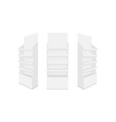 Set cardboard pos display mockups vector