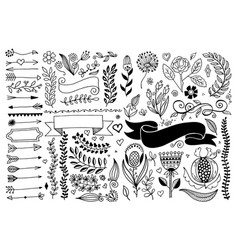 Set hand drawing page dividers borders vector