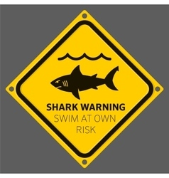 Shark area warning vector image