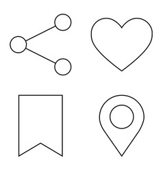 simple set thin line icons 03 vector image