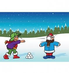 snowfight boys vector image vector image