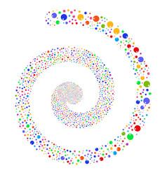 Sphere fireworks spiral vector