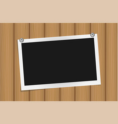square frame template on metal pins with shadows vector image