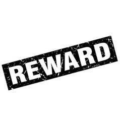 Square grunge black reward stamp vector