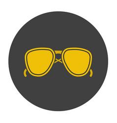 Sunglasses glyph color icon vector