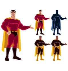 Superhero Presenting vector