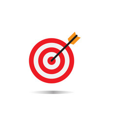 target concept icon on white background vector image