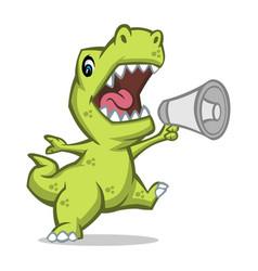 Trex speak mascot design vector