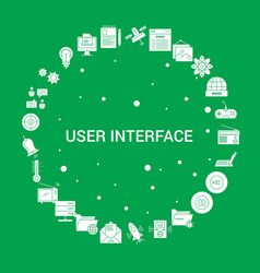 User interface icon set infographic template vector