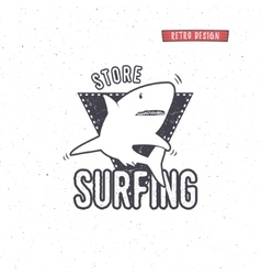 Vintage Surfing Store Badge design Surf gear shop vector image
