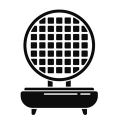 Waffle maker icon simple style vector