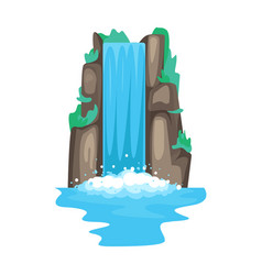 Waterfall iconcartoon icon isolated vector