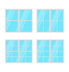 Windows set isolated on white background vector
