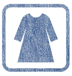 Woman dress fabric textured icon vector