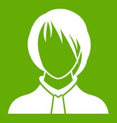 Woman icon green vector