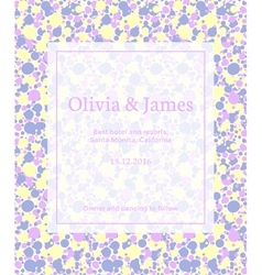 Yellow invitation vector