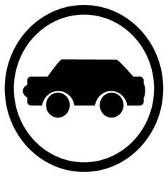 Car icon black vector image