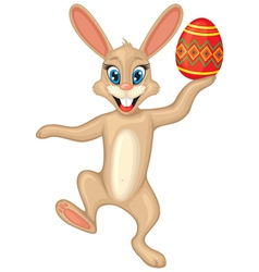 Easter bunny with easter egg vector