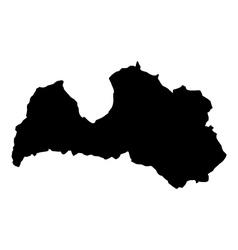 map Latvia vector image vector image