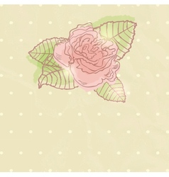 Abstract rose flower vector image