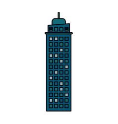 building architecture modern skyscraper vector image