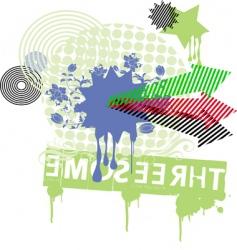 floral arrow vector image vector image