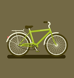 Green bicycle on dark background vector image vector image