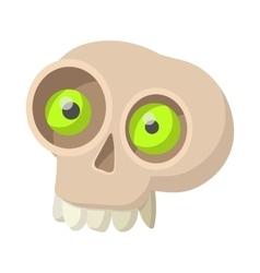 Human skull icon cartoon style vector image vector image